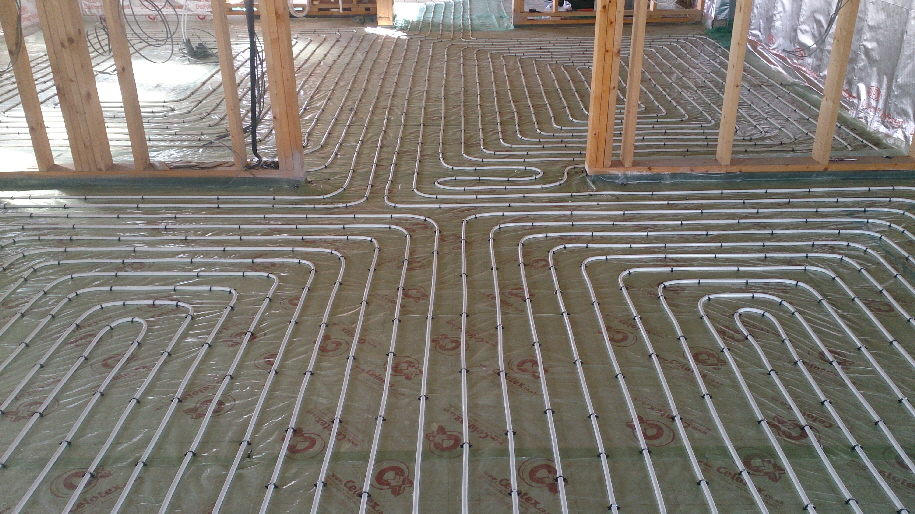 UFH installed with no cold spots